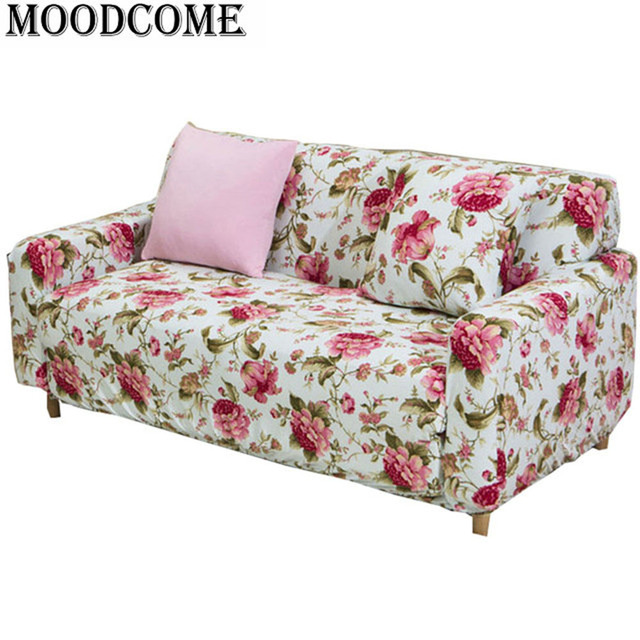 Polyester Cubre Sofa Zitzak Cover New Design Easy Installation Floral Sofa  Slipcover All Sofa Cover Elastic