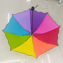 Guarda Chuva Children Umbrella Colorful Parasol Rainbow Folding Umbrellas Clear Kids Rain Protection Paraguas Parapluie Z545