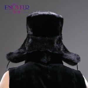 Image 5 - Winter Warm Real Hele Mink Fur Hoed Voor Man Oor Protector Cap Excellente Kwaliteit Vakmanschap Hoed Nieuwe Aankomst