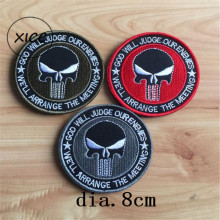 XICC New Morale Badge 3D Embroidery Hook And Loop Velcro Military Name Tactical Patch Magic Sticker Armband Stickers On Clothes