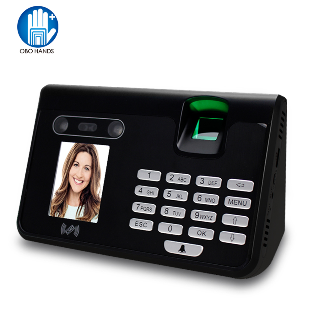 2.8 inch TCP/IP/USB Biometric Fingerprint Face Recognition Time Attendance System RFID Card Reader Password Digits Keypad biometric face and fingerprint access controller with time attendance linux system multibio800 face recognition access control