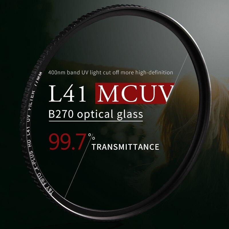WTIANYA HD MC UV 52 55 58 62 67 72 77 82 95 105mm Lens protector Alta lente de luz protetor de lente Para Nikon Canon Camera Lens