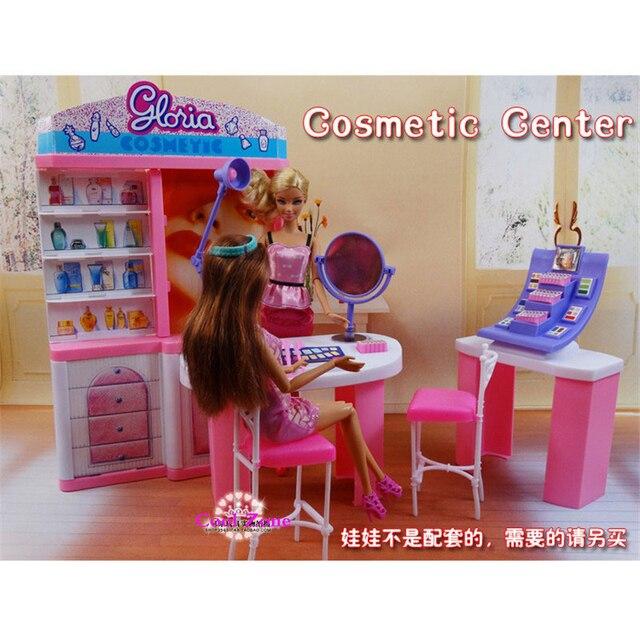 Новое Поступление Миниатюрный Мебель Косметический Центр для Куклы Барби Дома Классические Игрушки для Девочек Бесплатная Доставка