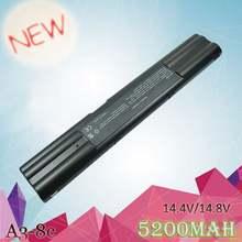 Bateria portátil apexway 4400mah, bateria para asus «90-n1b2000» A41-A3 A41-A6 A42-A3 A42-A6