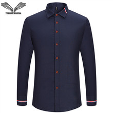 VISADA JAUNA 2017 New Men Shirt Solid Color font b Long b font Sleeve Casual Brand