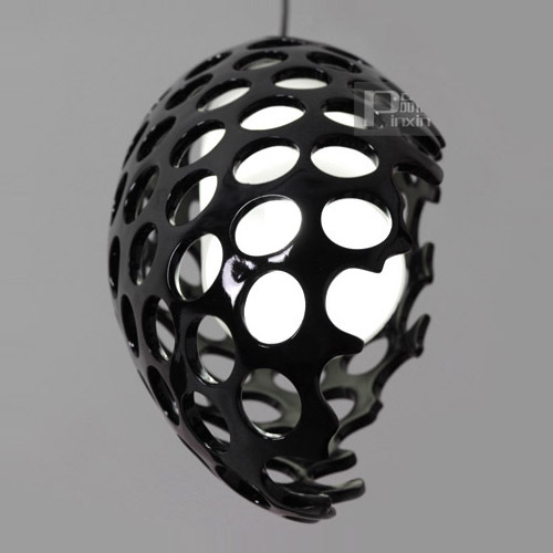 цена на Modern Resin Hollow Out oval Glass Egg Dining room Pendant Light Black Red White Color Corridor Hallway Balcony Pendant Lamps