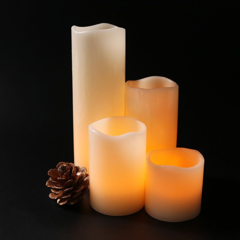 New Battery Operated Led Candle Made By Paraffin Wax Candle Lamp For Halloween,Christmas Decorative,wedding Decoration