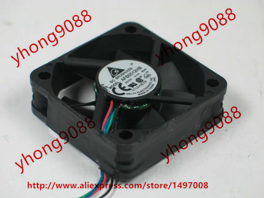 Free Shipping For Delta AFB0512HB -8D49 DC 12V 0.17A 4-wire 4-pin connector 50x50x15mm Server Square Cooling Fan free shipping for delta aub0512lb cp54 dc 12v 0 11a 2 wire 2 pin connector 70mm 50x50x15mm server square cooling fan