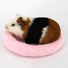 Hamster Small Animal Solid Winter Warm Round Cage Mat Fleece Sleeping Bed Pet Bed Rat Hamster Accessory Sleeping Bag Outdoor(China)