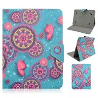 High Quality Pretty Conch Flower Print Durable Universal Folio Folding PU Leather Cover Case For 7
