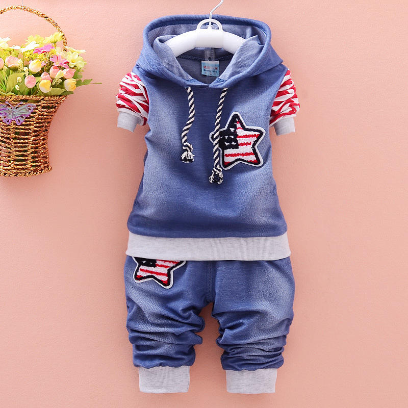 striped Hooded T shirt+pants 2pcs suit Spring Autumn baby boys clothes set roupa infantil bebes for boys sets Children Clothing new spring autumn kids clothes sets children casual 3 pcs suit jackets pants t shirt baby set boys sport outwear 4 12 years