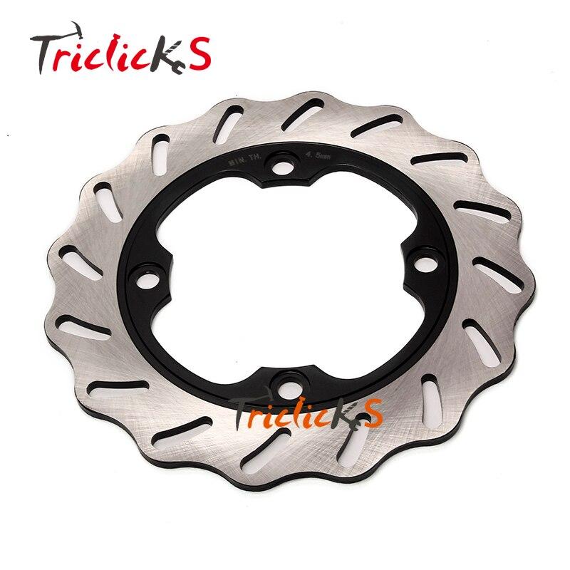 Triclicks Stainless Steel Motorcycle Brake Disks Rear Wavy Brake Disc Rotor Fit Honda CBR 600 RR CBR900RR CBR 1000 RR CBR 400 RR