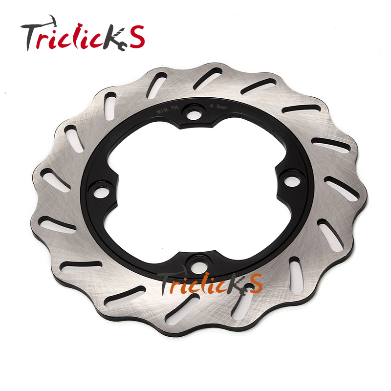 Triclicks Stainless Steel Motorcycle Brake Disks Rear Wavy Brake Disc Rotor Fit Honda CBR 600 RR CBR900RR CBR 1000 RR CBR 400 RR motorcycle front and rear brake pads for yamaha fzr 400 fzr400 rrsp rr 1991 1992 brake disc pad