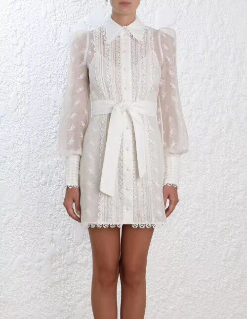 new spring / summer lace one-piece turn-down collar embroidery white blouse dress maternity clothing spring twinset lace fairy princess wedding one piece dress white embroidery dress full dress summer