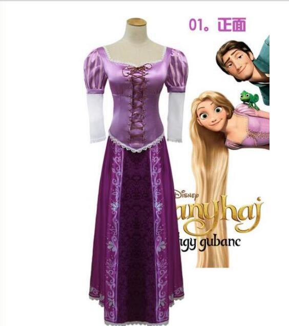 Women Adult Princess Rapunzel Halloween sexy S-XL hot selling party Costume Cosplay fancy dress carnival role-playing dress ems dhl free shipping toddler s little girl s tull dress princess birthday party masquerade rapunzel cosplay halloween wear