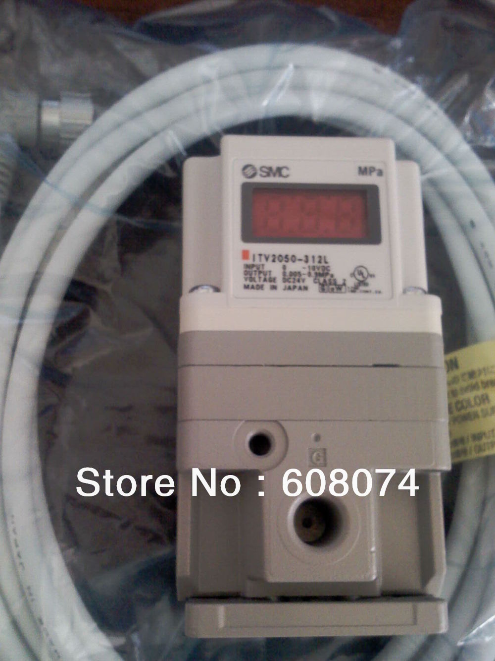 ELECTRO PNEUMATIC REGULATOR ITV2030-312L3 , 24VDC 1/4 PORT 0.005~0.5MPa 0~10V itv2030 312l electro pneumatic regulator 24vdc 1 4 port 0 10v input