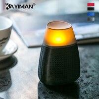 Neue LED Flamme Tischlampe Lautsprecher Tragbare Bluetooth-lautsprecher Taschenlampe Atmosphärischen Lampe USB-Lade Stereo Outdoor-soundbar-lautsprecher