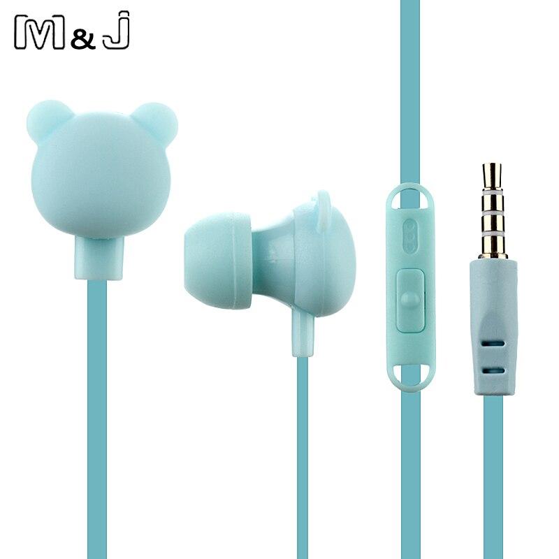 M&J crtić slatka slušalica 3.5mm u uho žičana slušalica s - Prijenosni audio i video - Foto 3