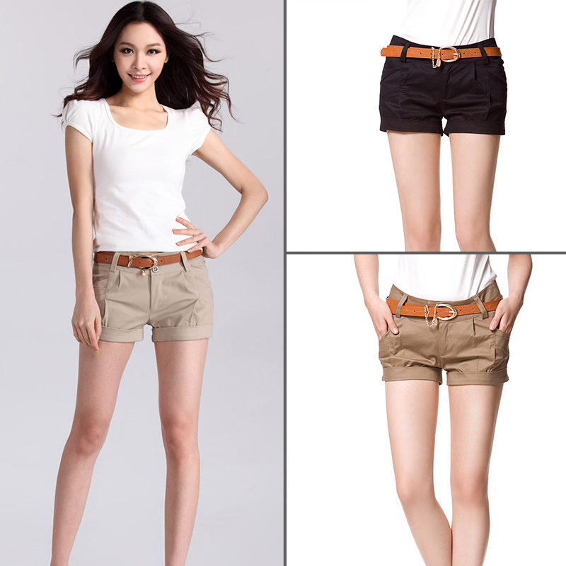 Spring Summer Fashion New Womens Slim Wild Casual Fashion Solid Color Shorts  Female Short Pants cb51fea1a8