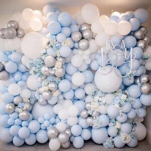 Image 4 - 30 pcs 5 Inch Macarons Kleur Pastel Candy Ballonnen Latex Ronde Helium Ballonnen Voor Verjaardagsfeestje