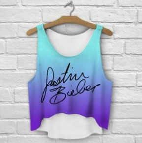 Zhbslwt t-shirts multicolorido impressão 3d mulheres regatas & camis impresso sem mangas colete meninas verão curto colheita topos irregular