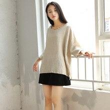 Qaturalan new summer women blouses shirts long sleeve v-neck natural cotton tops vintage female blouse plus size Female top