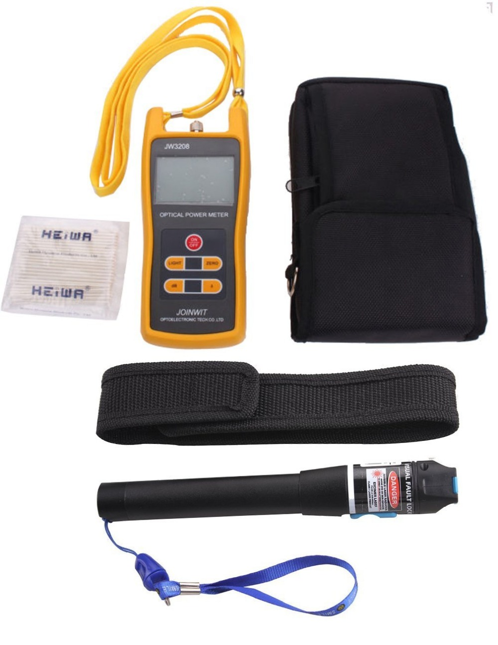 20mW Visual Fault Locator Fiber Optic Cable Tester Optical Laser Source &Handheld Optical Power Meter Tester -50 to26dB