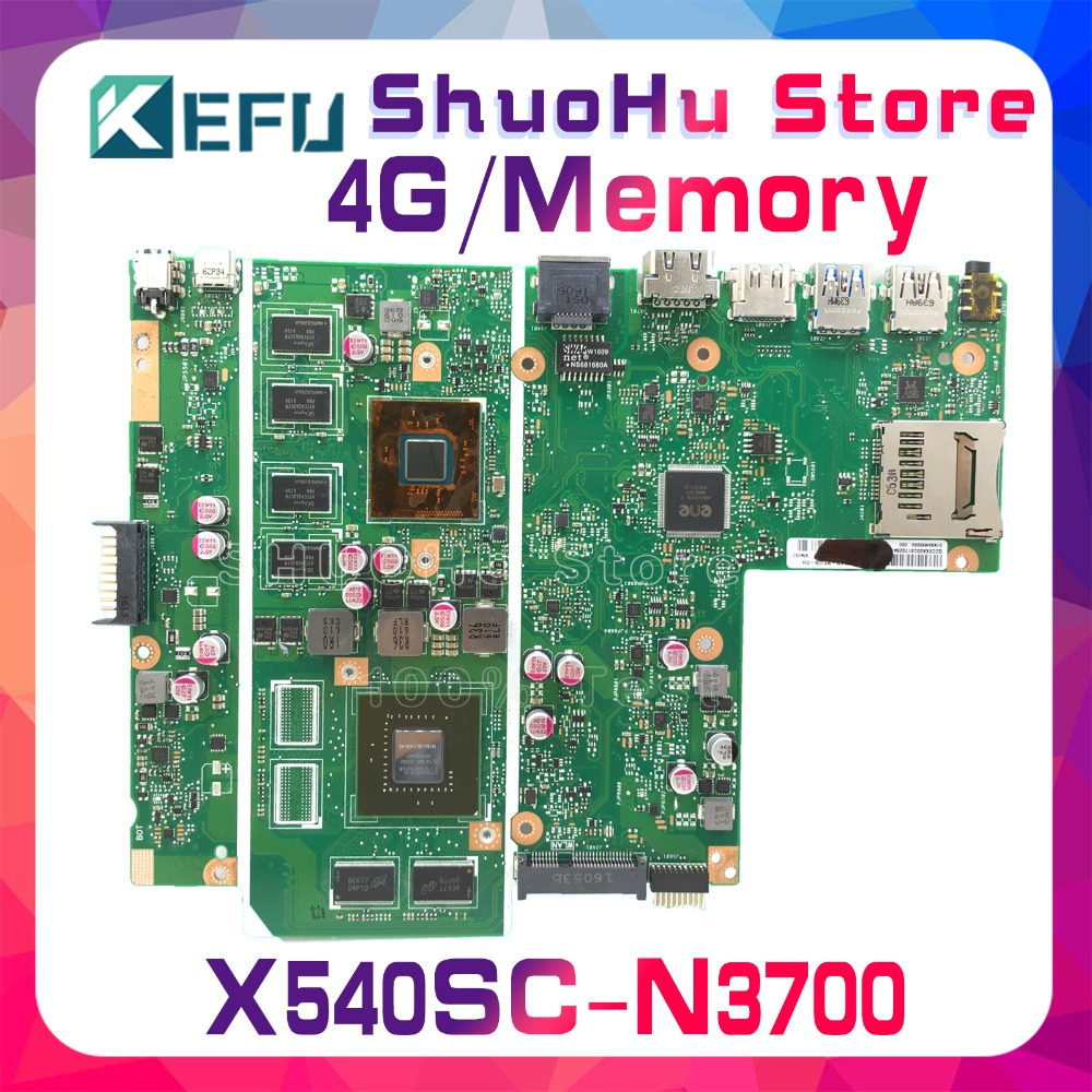 SHELI For ASUS X540SC X540S CPU N34700 4GMemory laptop motherboard tested 100% work original mainboard hot for asus x551ca laptop motherboard x551ca mainboard rev2 2 1007u 100% tested new motherboard