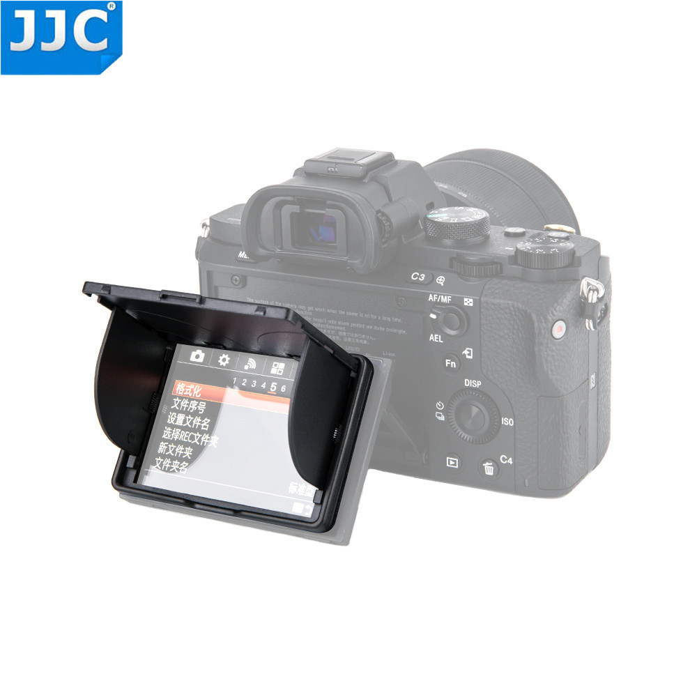 JJC Universal 3.0 inch LCD Screen Hood Protector Cover for Sony/Canon/Fujifilm DSLR <font><b>Camera</b></font> Black <font><b>Pop</b></font>-<font><b>up</b></font> Case image