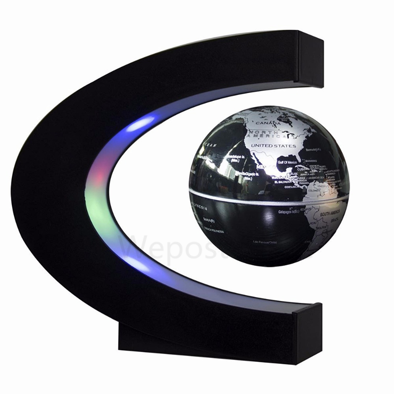 Led floating globo terrestre light lighted magnetic levitation led floating globo terrestre light lighted magnetic levitation english globe world map ball lamp plug charge home decor lamp in led night lights from lights gumiabroncs Gallery