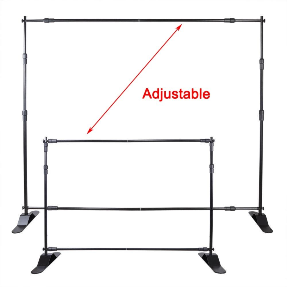 Free Shipping 8 X8 Step And Repeat Backdrop Telescopic