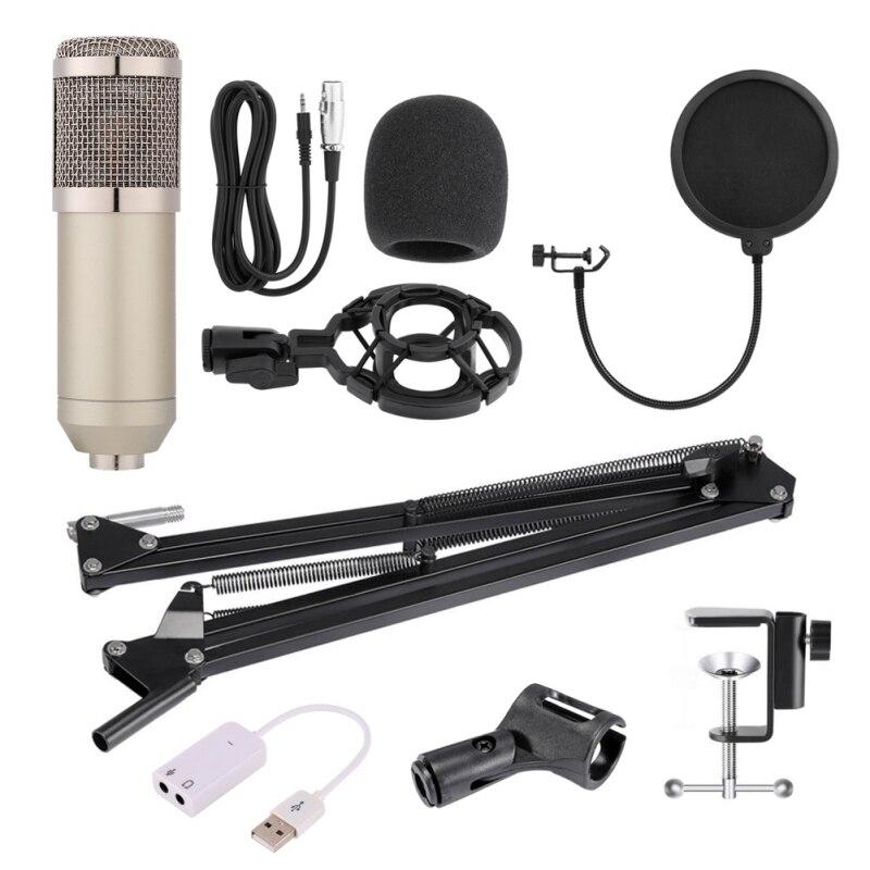 Nouveau BM-800 micro professionnel à condensateur pour ordinateur Audio Studio Vocal Enregistrement Mic KTV avec pied de micro