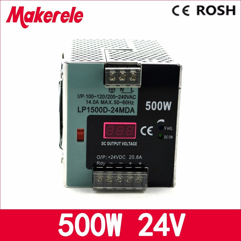 ФОТО 500w LP-500-24 500w 24v 20.8a ac-dc power supply Single Output Switching power supply for LED Strip with Digital display