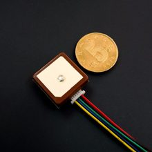 Antena pequena nova do módulo de gnss gps glonass galileo do tamanho, solução da microplaqueta de neo-m8n, design integrado do módulo da antena uart ttl nível