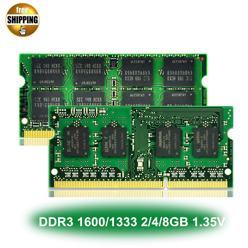 1.35V Voltage DDR3L 1600/1333MHz PC3-12800/10600 2/4/8GB CL11/CL9 For Laptop Notebook SODIMM Ram Memory SDRAM NON-ECC image