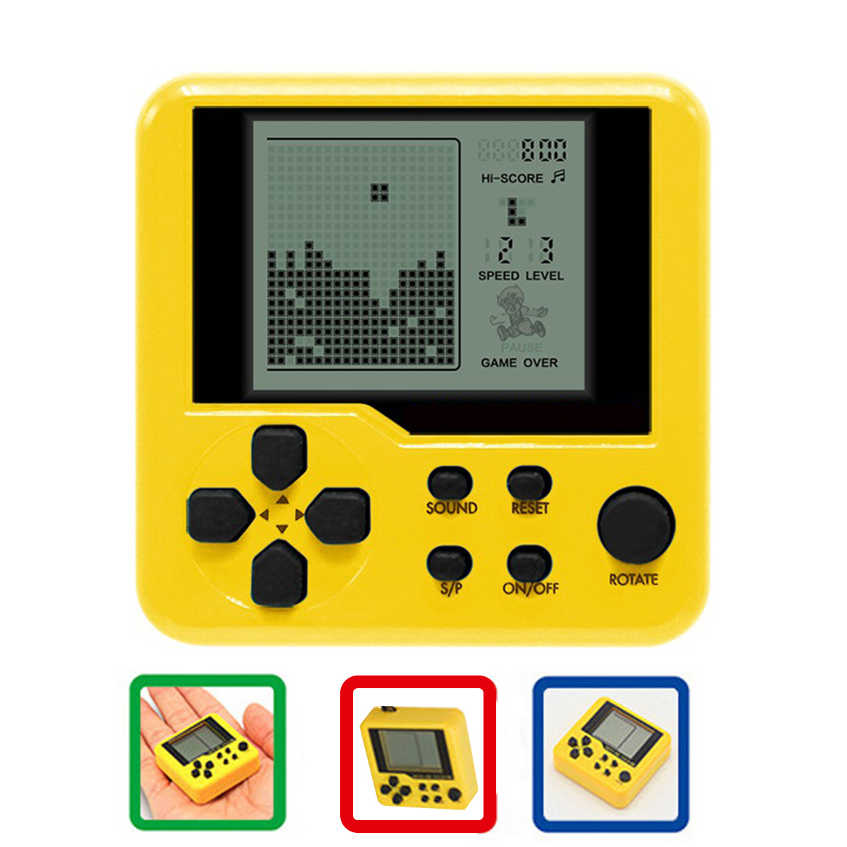 Retro Classic Tetris Handheld Game Player Portable Mini Childhood Games Console Puzzle Educational Electronic Toy For Kids Child electronics