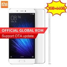 Оригинал Xiaomi Mi5 Премьер 3 ГБ RAM 64 ГБ ROM смартфон Mi 5 Snapdragon 820 3000 мАч Dual Sim-карта 4 К Видео Мобильных телефоны