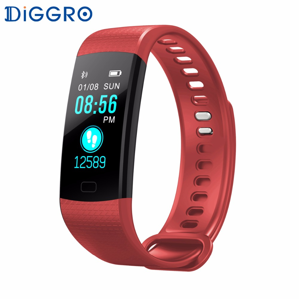 Diggro DB07 Smart Wristbands Color LCD Screen Fitness Bracelet IP67 Waterproof Smart Bracelet Heart Rate for IOS Android