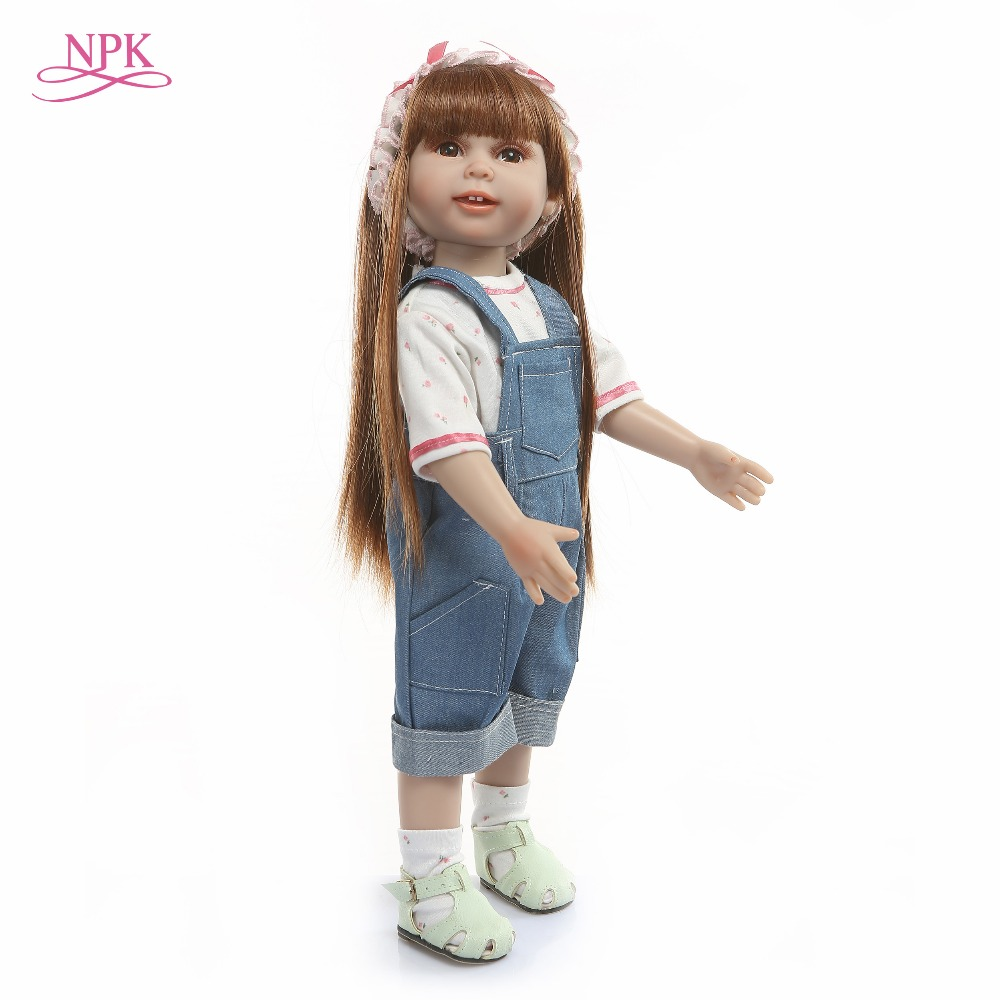 NPK Novo 45 centímetros Silicone Renascer Baby Dolls Boneca Reborn Bebes Reborn Realista Bonecas de Moda Para A Princesa Crianças Presente de Aniversário