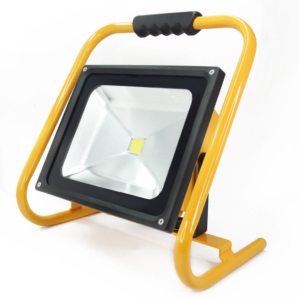 50W LED Floodlight Outdoor Lighting Rechargeable Portable lantern Led Work Light 18.5V/6600mAh Lithium-ion Battery Waterproof