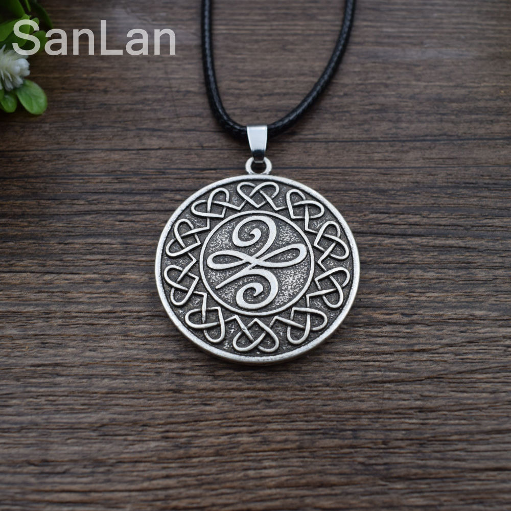 12pcs original celtic new beginnings symbol means a new beginning 12pcs original celtic new beginnings symbol means a new beginning pendant necklace celtic knot round necklace sanlan jewelry in chain necklaces from jewelry buycottarizona Choice Image
