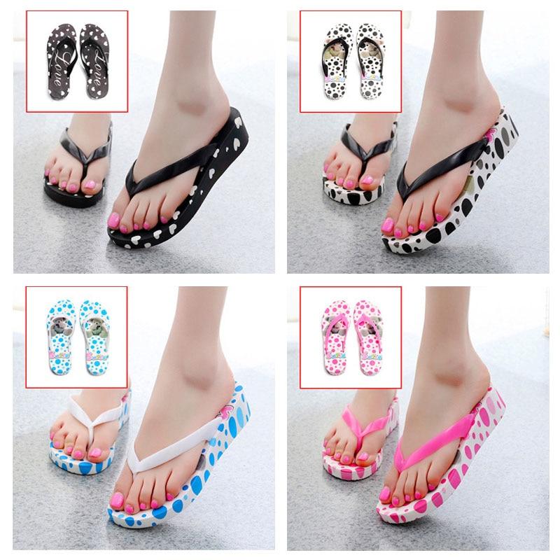 Summer Women Flip-Flop Sandal Printed Beach Casual Slippers Girl Thong Flip Flop New crocs huarache flip flop