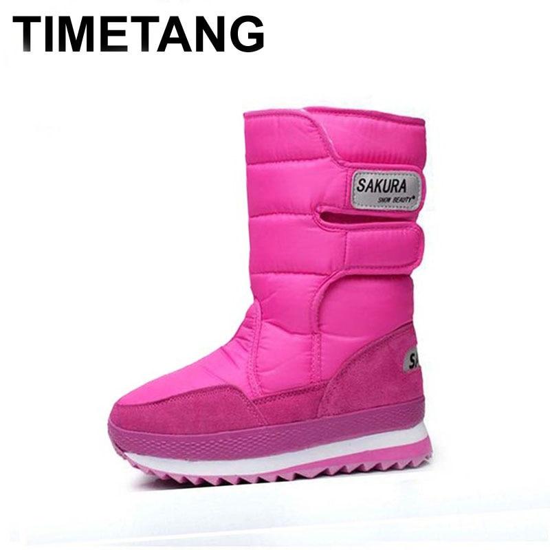 ФОТО 2014 NEW hot sale brand fashion women's warm berber Fleece snow boot size 35-46,7 color Plus Size Winter Waterproof Boots