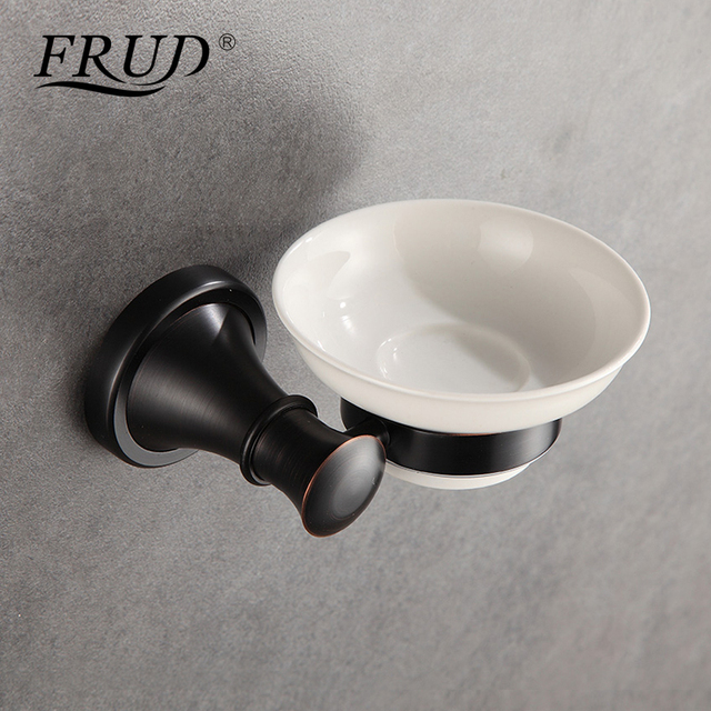 Frud Bathroom Soap Dishes Black Color Wall Mounted Soap Holder