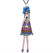 Long Chain Doll Pendant