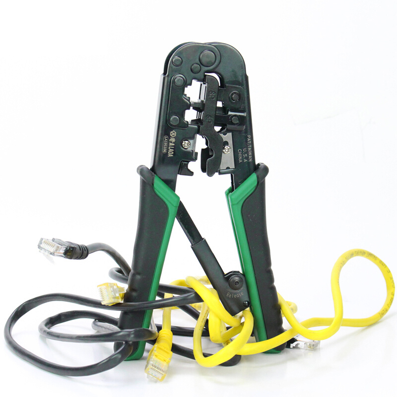 Tools : LAOA  4P 6P 8p Multifunction Ratchet Network Pliers Crimping Crimper Crimp Tool Made in Taiwan