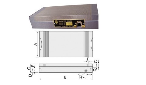 Grinder com Mandril Precisão Senoidal Magnético Divisão Plano Grinder Disk 125  250