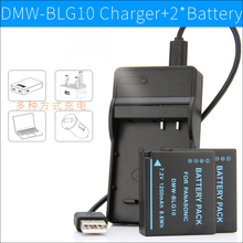 2xDMW-BLG10 Battery+Charger for Panasonic Camera DMC-GX80 GX85 GX7 Mark II TZ80 TZ81 TZ100 TZ101 TZ110 ZS110 ZS60 ZS100 TZ85 TX1