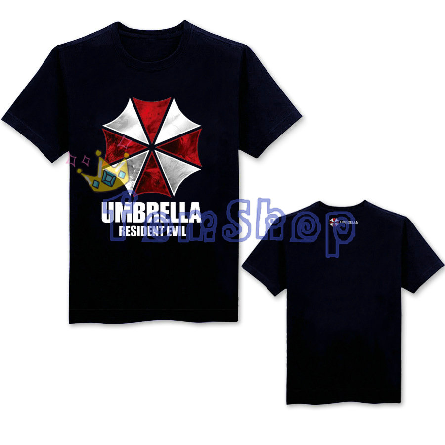 Men Fashion Short Sleeve T-shirts Resident Evil Cosplay T-Shirt Summer Casual Cotton Tops Tees Shirt Biohazard