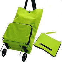 Japanese Portable Collapsible Package Supermarket Shopping Cart Trolley Wheels Bags Save Energy Storage Bags Free Shipping